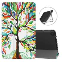TiMOVO Case Fits All-New Fire 7 Tablet (9th Generation, 2019 Release), Soft TPU Translucent Frosted Back Cover Shell with Auto Wake/Sleep Fit Amazon Fire 7 Tablet - Lucky Tree