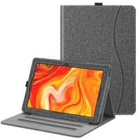 """Fintie Case for Vankyo MatrixPad Z4 / Z4 Pro 10 inch Tablet - [Hands Free] Multiple Angel Viewing Folio Smart Stand Cover with Pocket, Pencil Holder fits 10.1"""" MatrixPad Z4 / Z4 Pro (Gray)"""