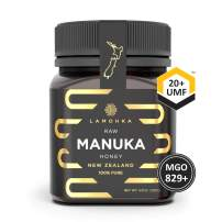 Lamohka Manuka Honey New Zealand, UMF 20 Certified 8.8oz, for Skin, Food, Unpasteurized, Natural, Organic Honey Raw Unfiltered. Certified and fully traceable to guarantee quality. Aid wound healing.