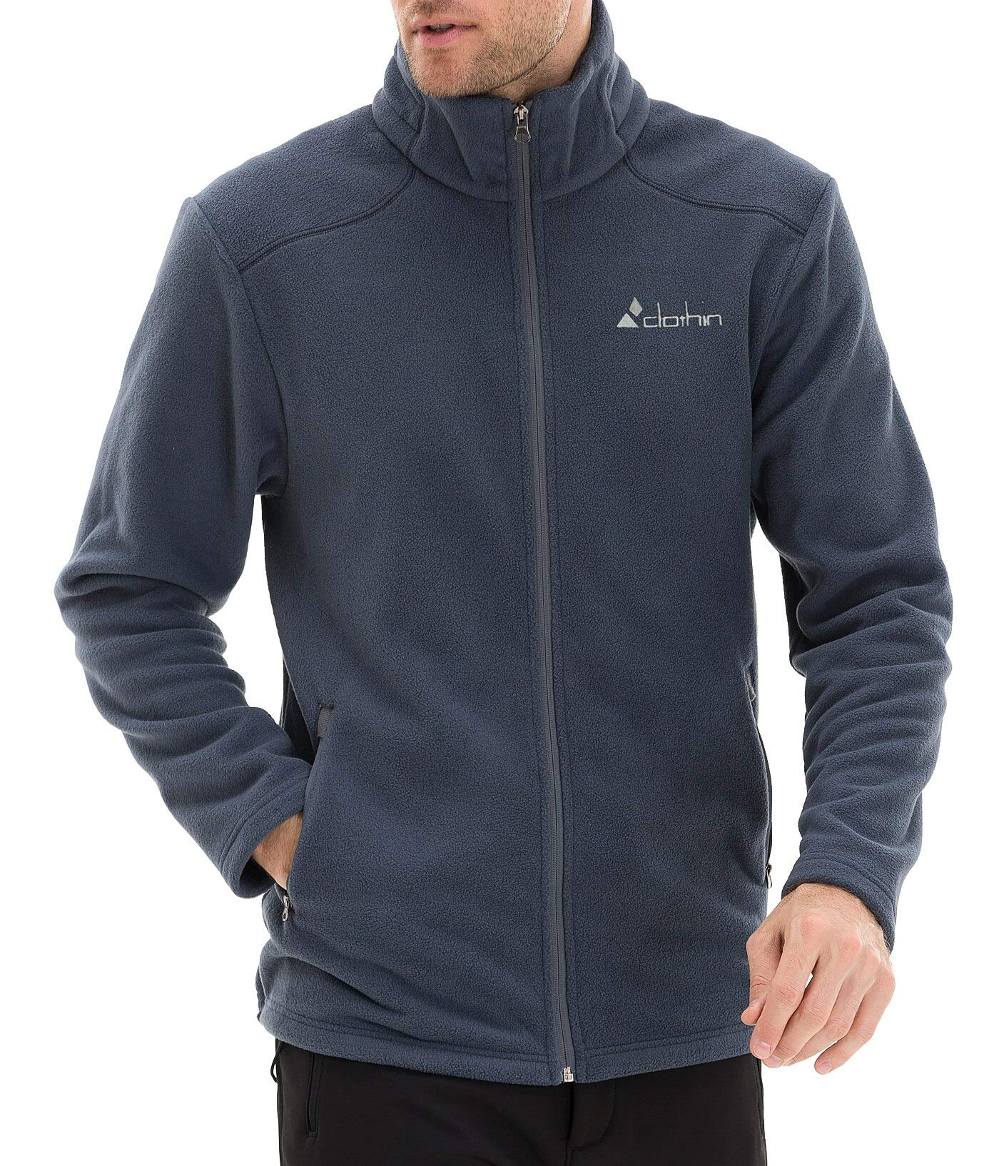 Clothin Men's Fleece Jacket Full-Zip Lightweight Jacket