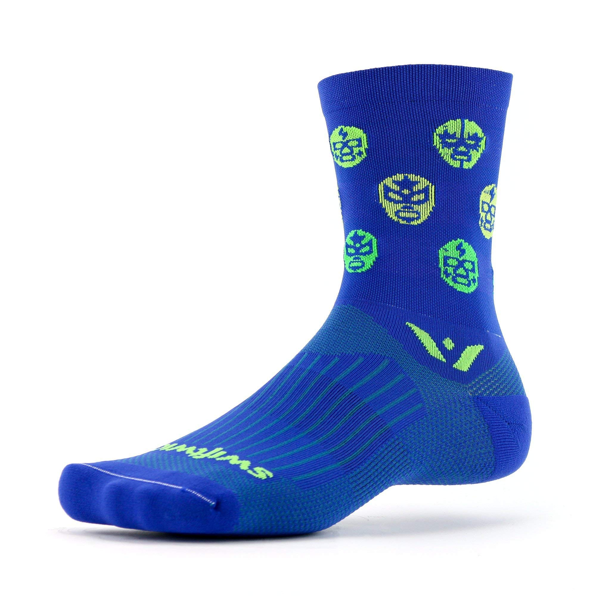 Swiftwick- VISION FIVE LUCHADOR Running & Cycling Socks, Performance Crew Socks