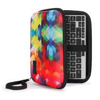 USA Gear GPD Pocket 7 Inch Mini Laptop PC Hard Shell Storage Travel Case - Compatible with 7 Inch Small Notebook UMPC Computer by GPD with Water Resistant Exterior, Interor Mesh Pouch - Geometric