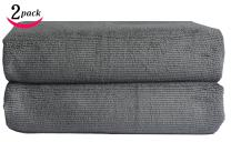 Sinland Microfiber Car Drying Towel Auto Detailing Cleaning Cloths 24 Inchx63 Inch Pack of 2 Grey