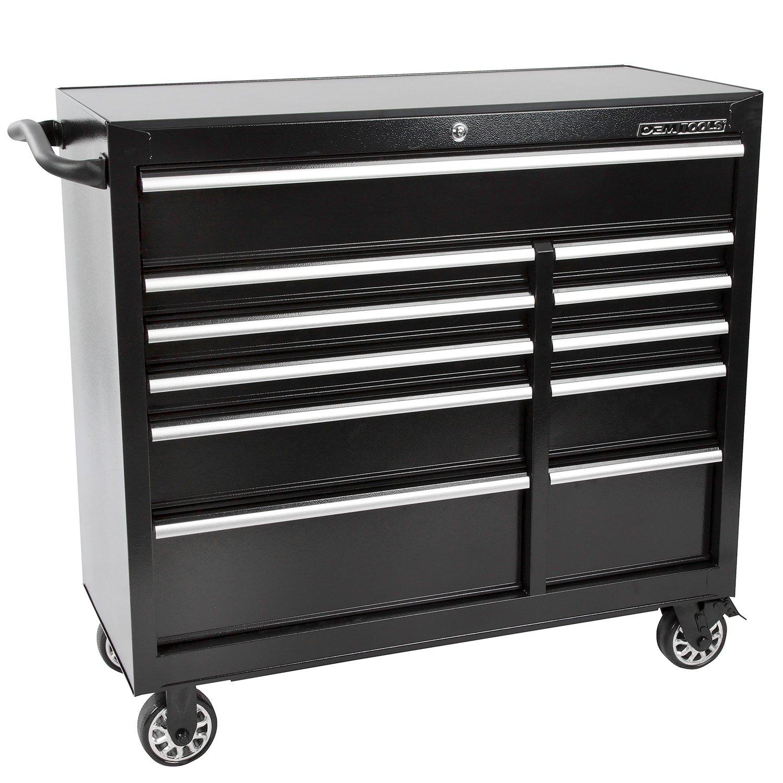 """OEMTOOLS 24583 41"""" 11 Drawer Roller Cabinet - Black"""