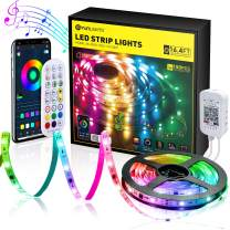 YUNLIGHTS Dreamcolor LED Strip Lights, 16.4ft RGBIC 5050 LED Color Changing Rainbow Tape Lights, Music Sync LED Lights with App Control for Bedroom, TV Backlight, Bar