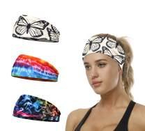 3 Pack Women Headbands Workout Hair Band Girls Floral Style Bandana Yoga Running Boho Head Wrap Accessories Gifts