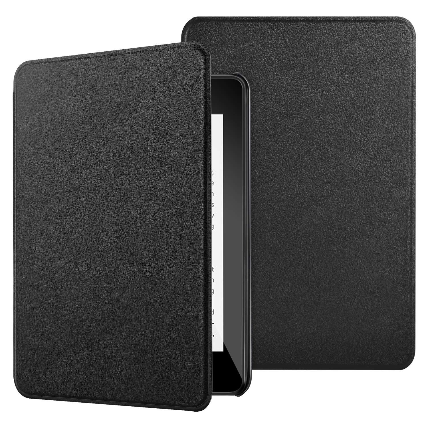IVSO Case for All Kindle Paperwhite (10th Generation-2018), Ultra Lightweight Protective Slim Smart Cover Case All Kindle Paperwhite (10th Generation-2018 Release) (Black)