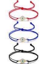Wistic Hamsa Evil Eye Bracelet Adjustable Lucky Kabbalah String Bracelet Infinity Friendship Bracelet for Women Men Friends Family