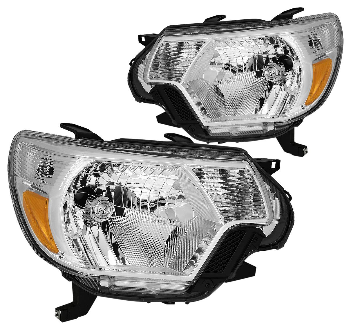DNA MOTORING HL-OH-TT12-CH-AM Headlight Assembly, Driver and Passenger Side