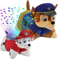 "Pillow Pets Paw Patrol 16"" Plush Set - Nickelodeon Chase Plush and Marshall Sleeptime Lite"
