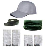 InsectGuard Permethrin Treated Tick & Mosquitoes Insect Repellent Complete Package 1 (Green/White/Grey) One Size Fits All Up to Adult Medium