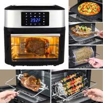 16.9 Quarts Air Fryer Oven XL 10 Cooking Preset Modes with Rotisserie and Dehydrator, 1800W Large Countertop Electric Air Fryer with 8 Cooking Accessories, BPA-Free, Auto Shut Off