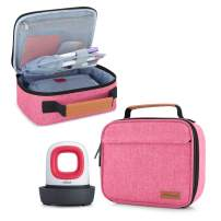 Yarwo Carrying Case for Cricut Easy Press Mini, Portable Tote Bag Compatible with Heat Press Machine and Tools, Pink