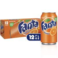 Fanta Orange Soda Fruit Flavored Soft Drink, 12 fl oz, 12 Pack
