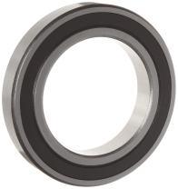 WJB 6000-2RS Deep Groove Ball Bearing, Double Sealed, Metric, 10mm ID, 26mm OD, 8mm Width, 1030lbf Dynamic Load Capacity, 440lbf Static Load Capacity