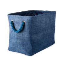 DII CAMZ37082  Collapsible Variegated Polyester Storage Bin, Small, Blue