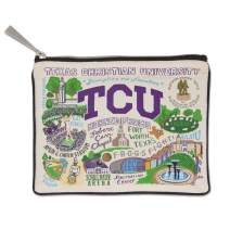 Catstudio Texas Christian University (TCU) Collegiate Zipper Pouch & Coin Purse   Holds Your Phone, Pencils, Makeup, Dog Treats, Tech Tools   Great for Travel, Women, Men, Girls, Boys