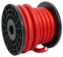 Rockville R0G20RED 0 Gauge 20 Foot Spool Red Car Amp Power+Ground Wire Cable
