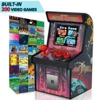 "GBD Kids Mini Retro Arcade Game Consoles Machine 200 Handheld Video Games Cabinet 2.5"" Display Joystick Travel Portable Game Player Kids Teens Boys Girls Holiday Toys Birthday Gifts"