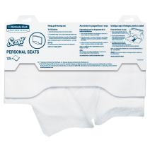 Scott Pro Toilet Seat Cover (07410), White, Disposable, 125 Covers / Pack, 24 Packs / Case