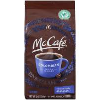 McCafe Medium-Dark Roast Colombian Ground Coffee (12 oz Bags, Pack of 6)