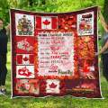 Personalized Custom Canada Canadian Family House Quilt Blankets Customized Christmas Birthday Wedding Anniversary Engagement Custom Fiancee Gifts from Electrical Journeyman Lineman Husband Fiance
