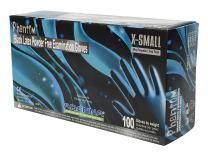 Adenna PHM910 Phantom  6 mil Latex Powder Free Exam Gloves (Black, X-Small) Box of 100