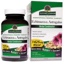 Nature's Answer Echinacea & Astragalus | Supports a Healthy Immune System | Vegan, Non-GMO & Kosher Certified |Capsules 90Ct