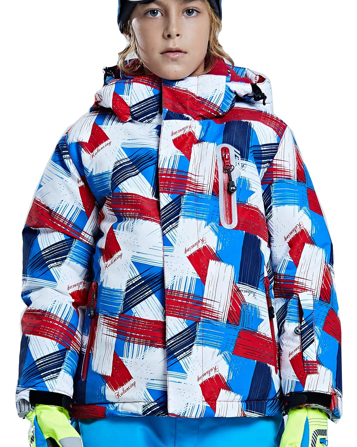 FARVALUE Boy's Waterproof Winter Coat Mountain Snow Ski Fleece Jacket Thick Warm Detachable Hood Windproof Rain Coats