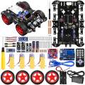 KINCREA Smart Robot Car Kit with ArduinoIDE Robot Kit with 4 Wheel Drive,Board,Ultrasonic Sensor, Infrared Tracking Module (No Welding Required)