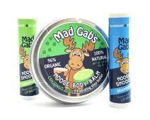 Mad Gab's Moose 3-Piece Smooch Sticks and Coconut Lime Body Balm Set
