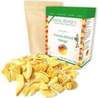 Freeze Dried Mango: Delicious Fruits 2.4oz (68g) Large Bulk Re-Sealable Bag in a Sturdy Protective Box: Taste Like Fresh Mangoes, the Ultimate Snack and Breakfast.