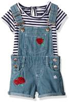 Limited Too Baby Girls' Zig Zag Lace Ruffle Top and Stretch Denim Short