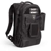 TBG - Mens Tactical Diaper Bag Backpack SET - Changing mat, Dump & Wipes Pouches