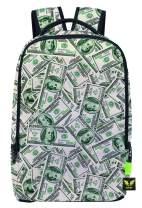 Pizoff Doulbe Mesh Padded Adjustable Shoulder Straps Cute Dollar Print Rucksack Travel Backpacks Y1799-26