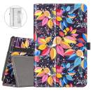 VORI Case for All-New Fire 7 Tablet (9th Generation, 2019 Release) Folio Smart Cover with Auto Wake/Sleep, Snail on colorful leaves