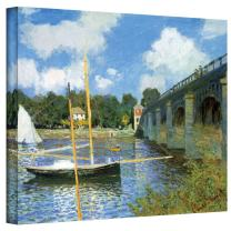 Art Wall The Argenteuil Bridge by Claude Monet Gallery Wrapped Canvas, 24 by 32-Inch