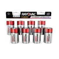 Rayovac Fusion C Batteries, Premium Alkaline C Cell Batteries (8 Battery Count)