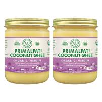 PRIMALFAT Coconut Ghee 14.2 oz, Virgin & Certified Organic (2-Pack)