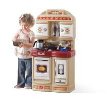 Step2 Cozy Kitchen | Small Play Kitchen For Toddlers | Kids Kitchen Playset for Ages 2+, Brown