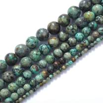 Natural Stone Beads 4mm African Turquoise Stone Round Loose Beads Crystal Energy Stone Healing Power for Jewelry Making DIY,1 Strand 15""