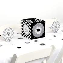 Big Dot of Happiness Silver Tassel Worth The Hassle - 2020 Graduation Party Centerpiece & Table Decoration Kit