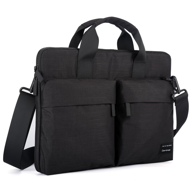 Cartinoe 12-13.3 inch Laptop Shoulder Bag with ANTI-RFID Pocket Briefcase for Men Women Water Resistant Nylon Laptop Messenger Bag for Macbook Air Pro 13 for Business Work School, Black