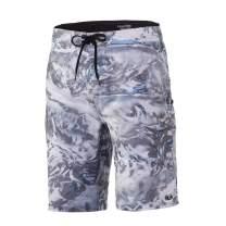 "HUK Men's Mossy Oak Freeman 21"" Print Outdoor Lightweight Quick-Drying Fishing Boardshorts"