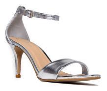 J. Adams Low Ankle Strap Kitten Heel - Essential Mid Heel Open Toe Dress Sandal - Dove