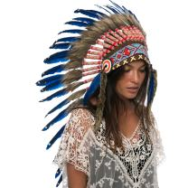 Adjustable! Long Native American Indian Inspired Headdress   Many Colors