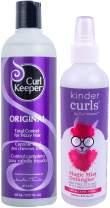 CURLY HAIR SOLUTIONS Curl Keeper Original & Kinder Curls Keeper Magic Mist Detangler (12 Ounce / 355 Milliliter - 8 Ounce / 240 Milliliter)