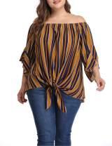 Shiaili Women Plus Size Boho Blouses Flowy Off The Shoulder Tops Gypsy Shirts