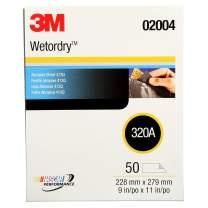 3M Wetordry Abrasive Sheet 413Q, 02004, 320, 9 in x 11 in, 50 sheets per carton