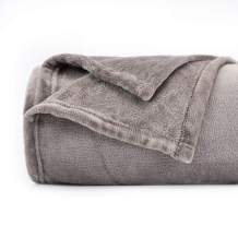 Topblan Fleece Blankets - King Size for All Seasons, Super Soft Fluffy Microfiber Flannel Plush Throw Blanket Lightweight, Grey